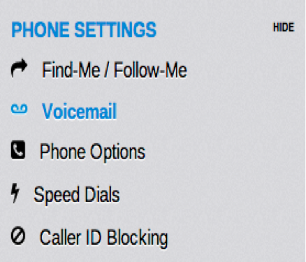 how to change voicemail to default
