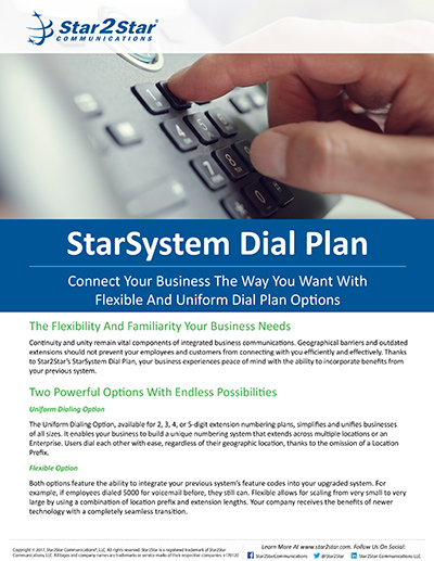 StarSystem Dial Plan