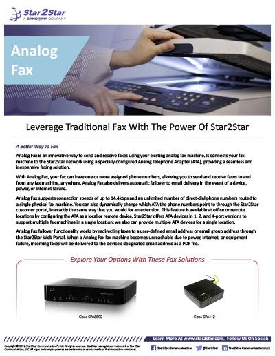 Analog Fax