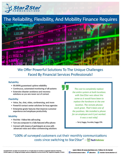 Financial Services Vertical Slick