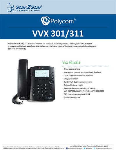 Polycom 174 Vvx 174 301 311 Star2star Communications Knowledge