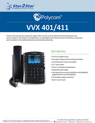 polycom vvx 411 user guide