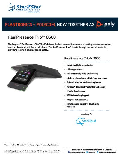 Polycom® RealPresence Trio™ 8500   Star2Star Communications