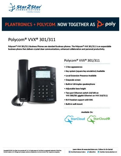 polycom vvx 301 311