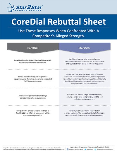 CoreDial Rebuttal Sheet