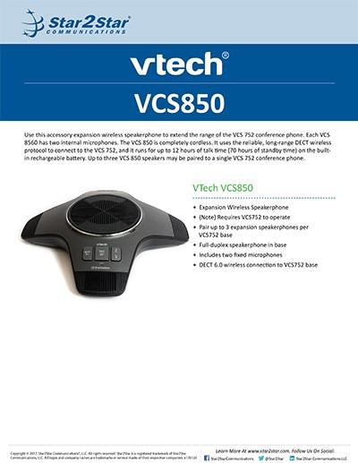 VTech VCS850
