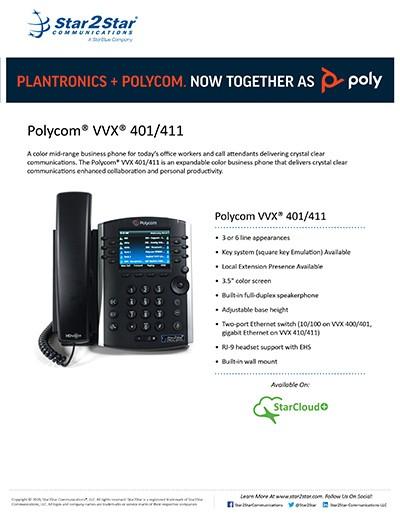 Polycom® VVX® 401 411