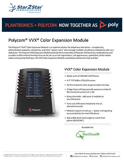 Polycom® VVX® Color Expansion Module