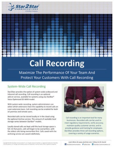 StarCenter Call Recording