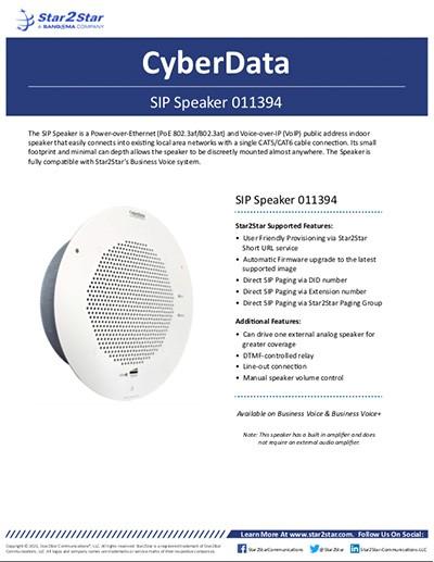 CyberData Speaker 011394