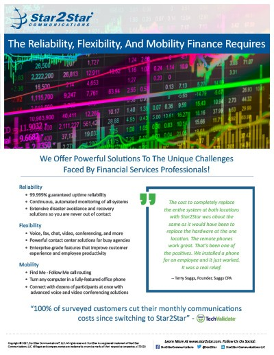 Financial Services Vertical Slick