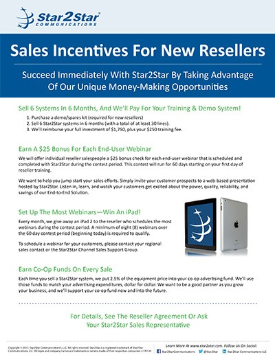 New Reseller Incentives