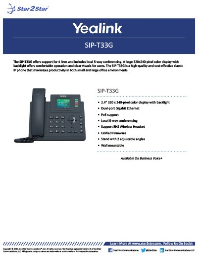 Yealink SIP-T33G