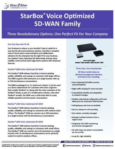 StarBox Voice Optimized SD-WAN