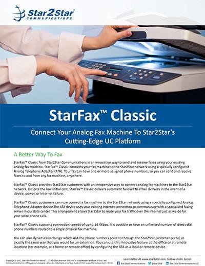 StarFax™ Classic