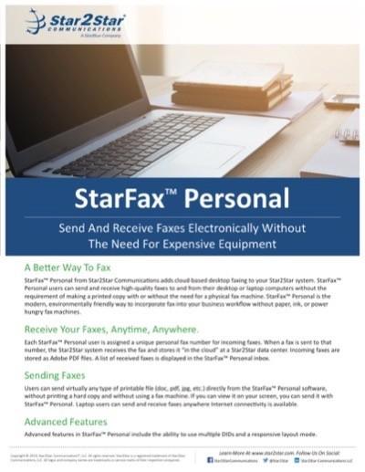 StarFax Personal™