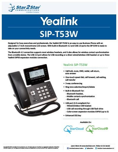 Yealink T53W