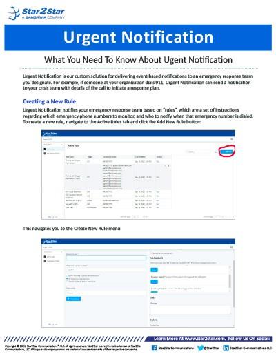 Urgent Notification FAQs