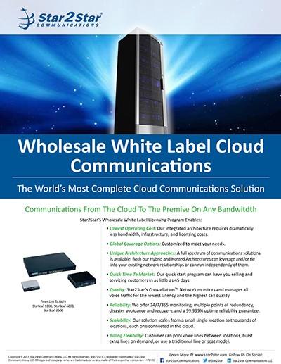 Wholesale White Label Cloud Communications